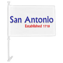 San Antonio Car Flag
