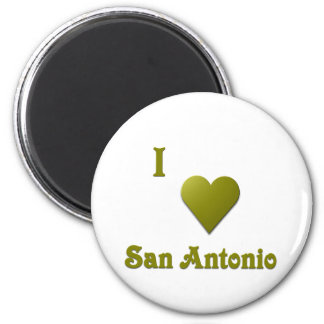 San Antonio -- Deep Green Refrigerator Magnet