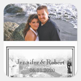 San Antonio Destination Wedding Favor Sticker