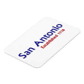 "San Antonio Established 3""x4"" Flexible Magnet"