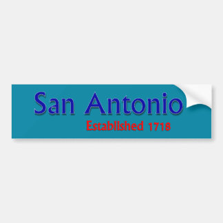 San Antonio Established Vehicle Bumper Sticker