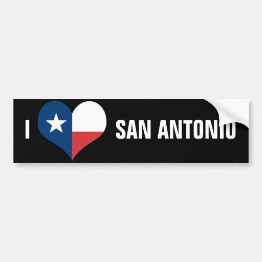 San Antonio Etiqueta De Parachoque
