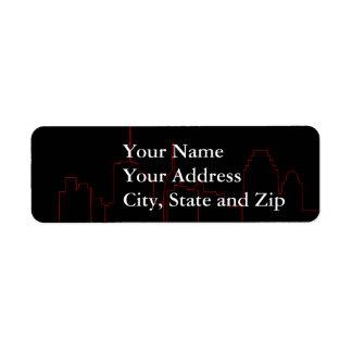 San Antonio, etiquetas de dirección del horizonte