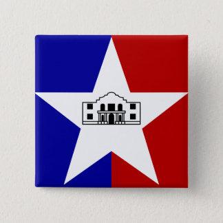 San Antonio Flag Pinback Button