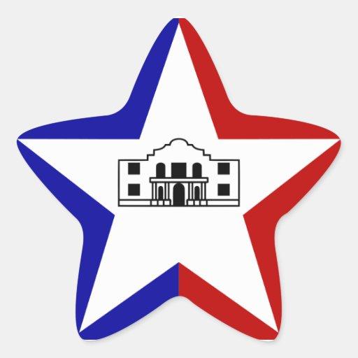 San Antonio Flag Star Sticker