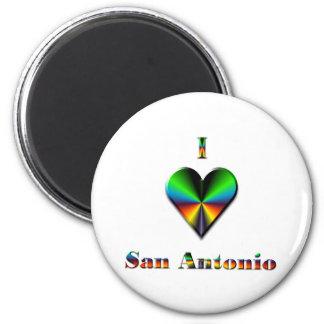 San Antonio -- Green Blue & Orange Magnets