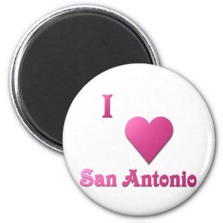 San Antonio -- Hot Pink Fridge Magnet