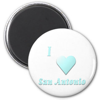 San Antonio -- Light Blue Refrigerator Magnet