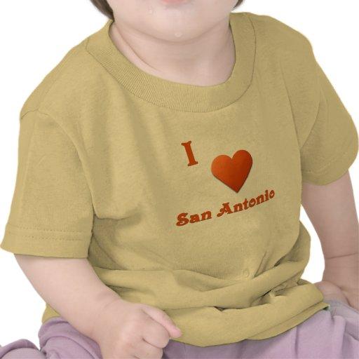 San Antonio -- Naranja quemado Camisetas