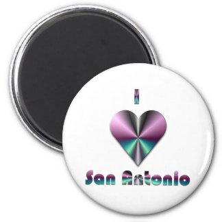 San Antonio -- Purple & Turquoise Refrigerator Magnets