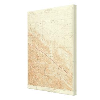 San Antonio quadrangle showing San Andreas Rift Canvas Print