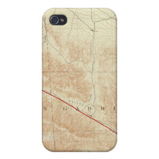 San Antonio quadrangle showing San Andreas Rift iPhone 4 Cover
