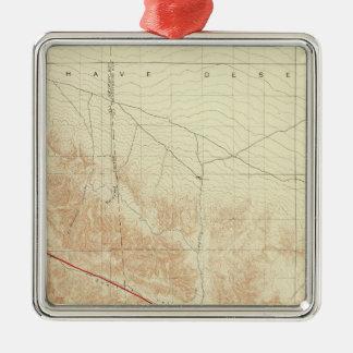 San Antonio quadrangle showing San Andreas Rift Metal Ornament