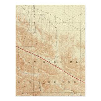 San Antonio quadrangle showing San Andreas Rift Postcard