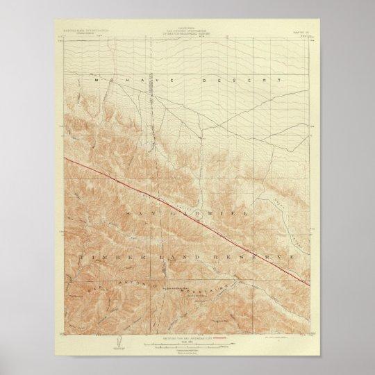 San Antonio quadrangle showing San Andreas Rift Poster