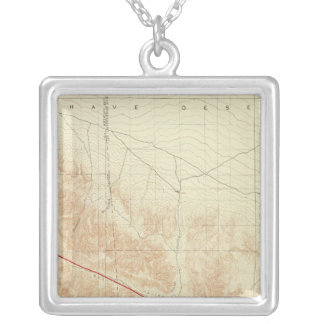 San Antonio quadrangle showing San Andreas Rift Silver Plated Necklace