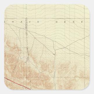 San Antonio quadrangle showing San Andreas Rift Square Sticker