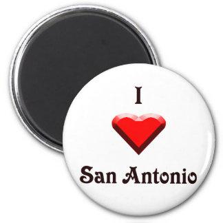 San Antonio -- Red & Black Refrigerator Magnet