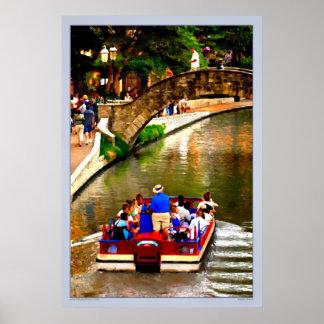San Antonio River Cruise - Texas Poster