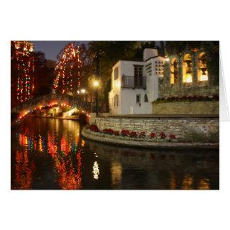 San Antonio River Walk Christmas Scene Card