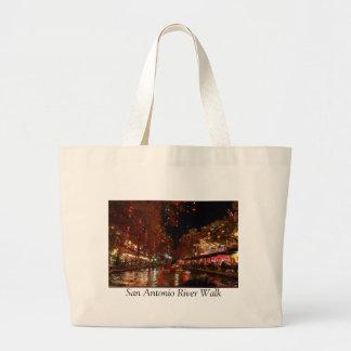 San Antonio River Walk Jumbo Tote Bag