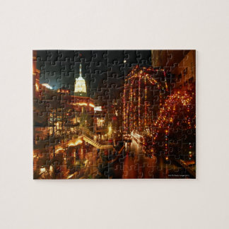 San Antonio Riverwalk at Night Jigsaw Puzzle