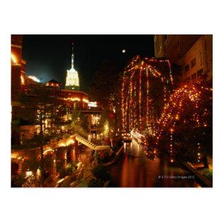 San Antonio Riverwalk at Night Postcard