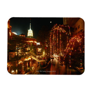 San Antonio Riverwalk at Night Vinyl Magnet