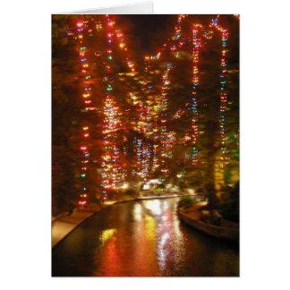 San Antonio Riverwalk In December Card