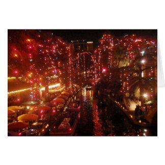 San Antonio Riverwalk lights Card