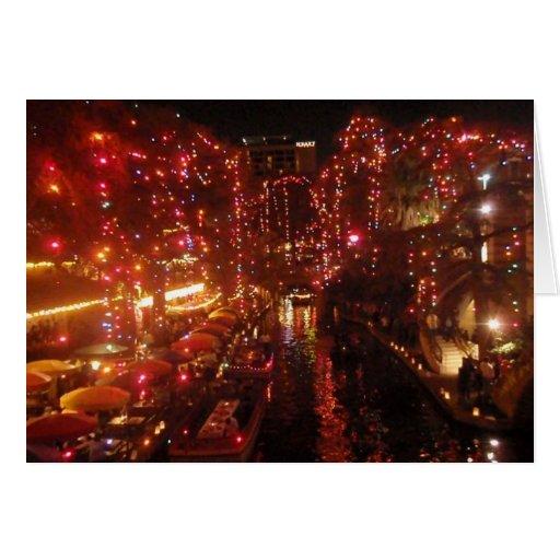 San Antonio Riverwalk lights Greeting Cards