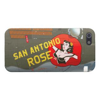 San Antonio Rose B-24 Nose Art (Vintage Fuselage) iPhone SE/5/5s Cover