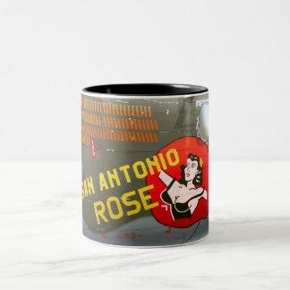 San Antonio Rose B-24 Nose Art (Vintage Fuselage) Two-Tone Coffee Mug
