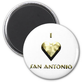 San Antonio -- Shimmering Gold Fridge Magnets