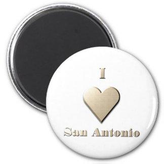 San Antonio -- Steel Tan Fridge Magnet