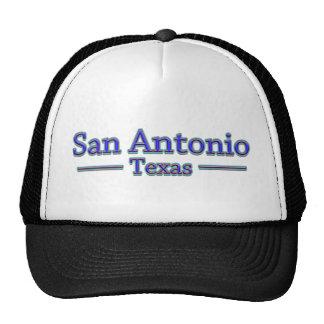 San Antonio Tejas en azul y rojo Gorras