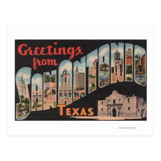 San Antonio, Tejas - escenas grandes de la letra Tarjetas Postales