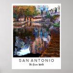 San Antonio, Tejas: Impresión del arte del paseo d Poster