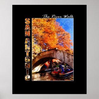 San Antonio, Tejas:  Puente del paseo del río Impresiones