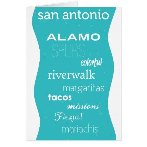 San Antonio, Tejas Tarjeta De Felicitación