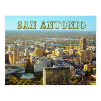 San Antonio, Texas -  Aerial View Postcard