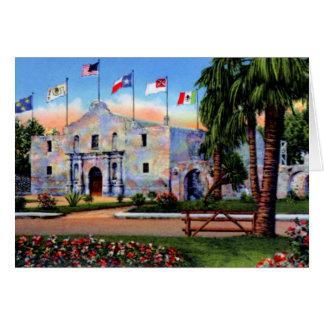 San Antonio Texas Alamo Card