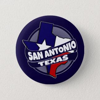 San Antonio Texas flag burst button