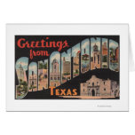 San Antonio, Texas - Large Letter Scenes Greeting Card