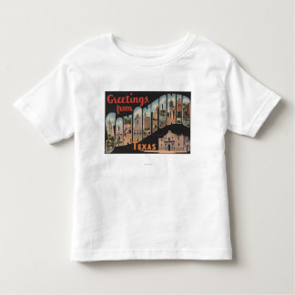 San Antonio, Texas - Large Letter Scenes Toddler T-shirt