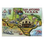San Antonio TEXAS Map Card