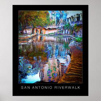 San Antonio Texas River Walk Art Poster