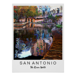 San Antonio, Texas: River Walk Art Print
