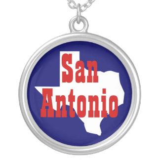 San Antonio Texas Silver Plated Necklace
