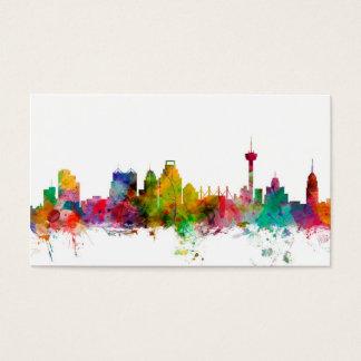 San Antonio Texas Skyline Business Card